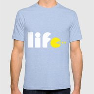 Life Mens Fitted Tee Tri-Blue SMALL