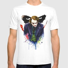Angel Of Chaos (The Joker) Mens Fitted Tee SMALL White