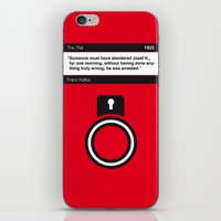 No013 MY The Trial Book Icon poster iPhone & iPod Skin