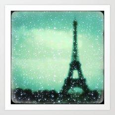 Paris... Je t'aime Art Print