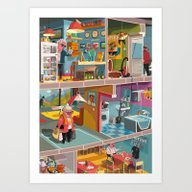 Greetings From Budapest Art Print