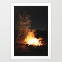 Fire Dance Art Print
