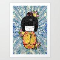 Horror Vacui - Kokeshi01 Art Print