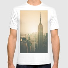 New York City - Empire State Building Mens Fitted Tee White SMALL
