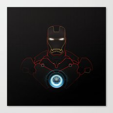 Ironman The Power Of Arc Reactor Canvas Print