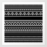 Graphic_Black&White #6 Art Print
