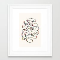 Let Love Grow Framed Art Print