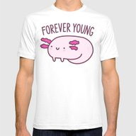 Adorable Axolotls Mens Fitted Tee White SMALL