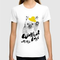 Wombat Love Womens Fitted Tee White SMALL