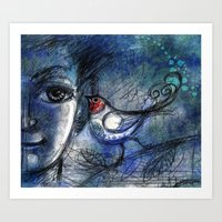 A bird told me... Art Print