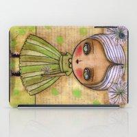 Dandelion Girl in Yellow And Green iPad Case