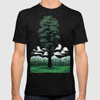 Giant Sequoia Mens Fitted Tee Tri-Black SMALL