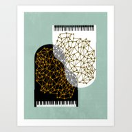 The Entertainers - Two P… Art Print