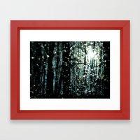 Blue Burns The Twilight Framed Art Print