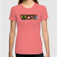 WORK  Womens Fitted Tee Pomegranate SMALL