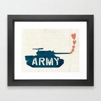 The Love Army Framed Art Print