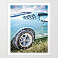 1966 Ford Mustang Fastba… Art Print