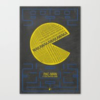 Pac-Man Typography Canvas Print