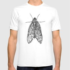 moth Mens Fitted Tee White SMALL