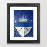 Motor Yacht Framed Art Print