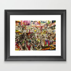 Coogi Sweater Party Framed Art Print