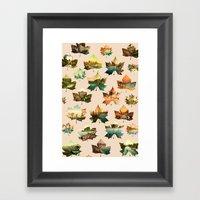 Memory In Leaves Framed Art Print