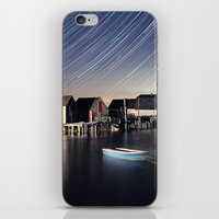 Star Trails at Blue Rocks iPhone & iPod Skin