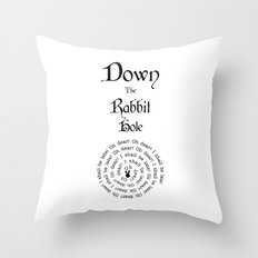 Alice In Wonderland Down The Rabbit Hole Throw Pillow
