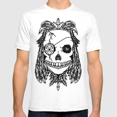Odin White SMALL Mens Fitted Tee