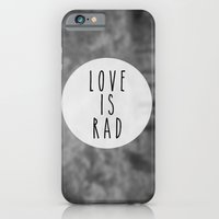 iPhone & iPod Case featuring LOVE IS RAD  by VisualPonderland