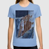 Calves at Brunch Womens Fitted Tee Athletic Blue SMALL
