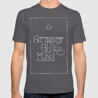 Sic Transit Gloria Mundi (black) Mens Fitted Tee Asphalt SMALL
