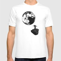 Boy And The Moon Mens Fitted Tee White SMALL