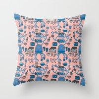 Pattern Project #17 / Bird Life Throw Pillow