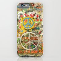 iPhone Cases featuring Peace Sign - Love - Graffiti by Tara Holland
