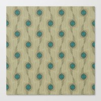 Turquoise Circles Pattern Modern Abstract Canvas Print