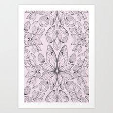 Rose Quartz Insect Wings Art Print