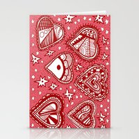Love Hearts Pink Stationery Cards