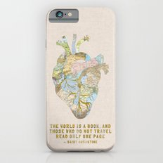 A Traveler's Heart + Quote iPhone 6 Slim Case