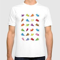Humming Birds Mens Fitted Tee White SMALL