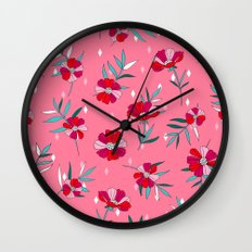 Pink Summer Wall Clock