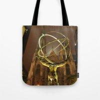 Atlas-Gold Tote Bag