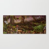 A Forest Alive Canvas Print