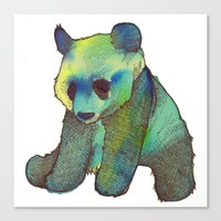 Watercolor Panda Canvas Print