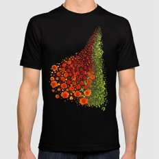 Paths of Color [Red, Orange and Green] SMALL Mens Fitted Tee Black