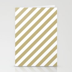 Diagonal Stripes (Sand/White) Stationery Cards