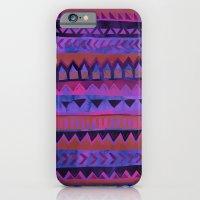 PATTERN {Tribal Stripe- Purple} iPhone 6 Slim Case