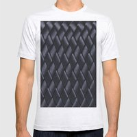 Woven Black Mens Fitted Tee Ash Grey SMALL