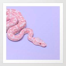 Pink Snake Art Print