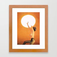Girl In The Sun... (One Thing...) Framed Art Print
